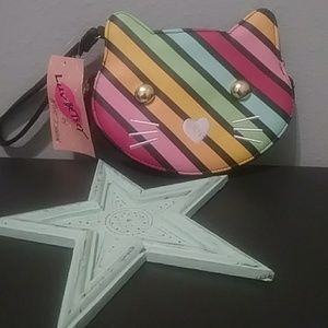 Betsey Johnson Rainbow Kitty Wristlet